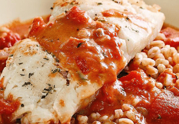 Mediterranean Style Cod and Tomatoes